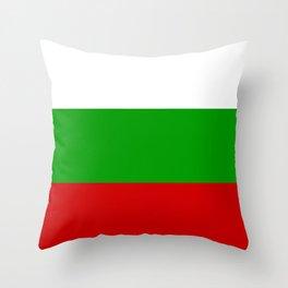 The National Flag of Bulgaria Throw Pillow