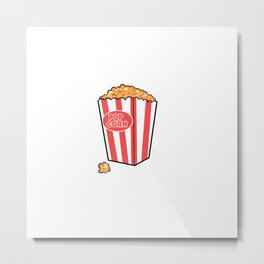 Bucket of Popcorn Movie Lover Gift Metal Print