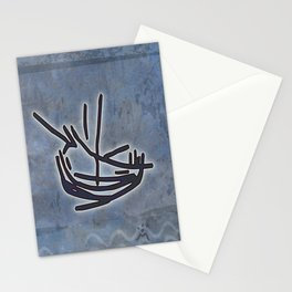 Tribal Boats in the Night Stationery Cards