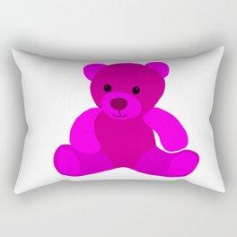 Bright Pink Teddy Bear Rectangular Pillow