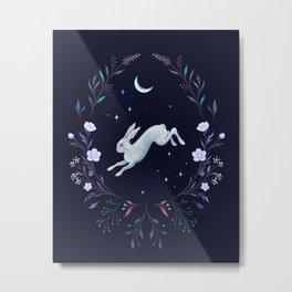 Easter Bunny Night 2 Metal Print