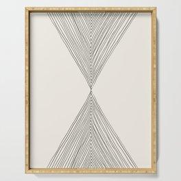 Minimalist Boho Triangles Serving Tray