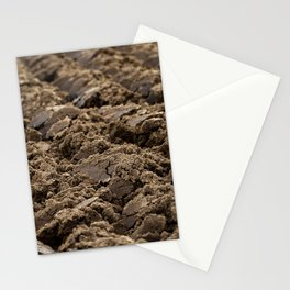 plowed land, close-up Stationery Cards