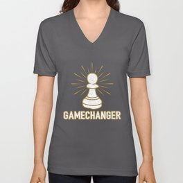 Game Changer Pawn Chess Piece - Cool Chess Club Gift Unisex V-Neck