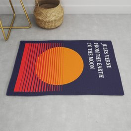 Jules Verne From the Earth to the Moon - Minimalist cover Rug