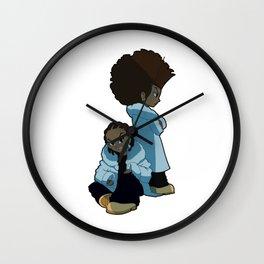 Riley And Huey Wall Clock