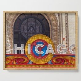 Chicago Neon Sign Serving Tray