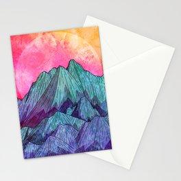 Sunset Sky Mounts Stationery Cards