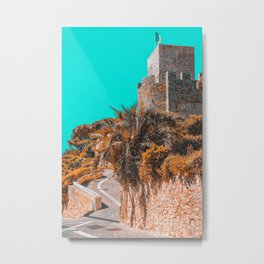 Le Suquet Castre Tower, Cannes City, French Riviera, France Castle Tower, Medieval Architecture Print, Old Quarter Cannes Metal Print