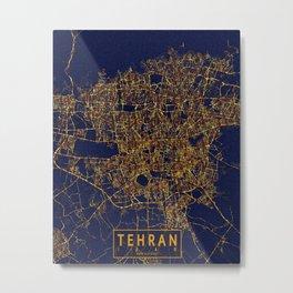 Tehran, Iran - City At Night Metal Print