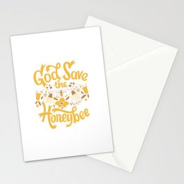God Save the Honeybee Stationery Cards