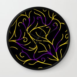 Black Velvet, Intersex Flag Vines Wall Clock