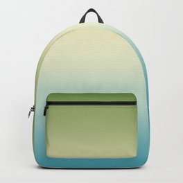 Gradient. Turquoise, yellow, green. Ombre, Backpack