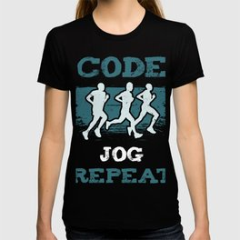 Code Jog Repeat I Running Tee For Developers and Programmers T-shirt