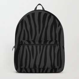 Black And Grey Zebra Design Backpack