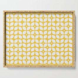 Mid century modern yellow geometric Serving Tray
