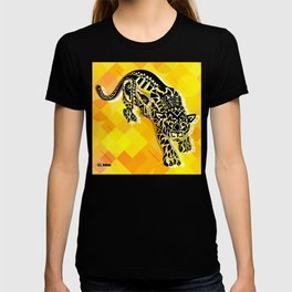 jaguars in gold ecopop T-shirt