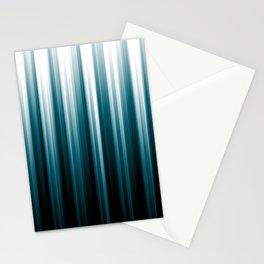 Tropical Dark Teal Inspired by 2020 Color Oceanside SW6496 Soft Vertical Blurred Line Pattern Stationery Cards