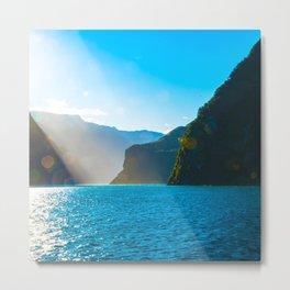 Glittering Fjord Sunrise - Milford Sound, New Zealand Metal Print