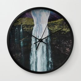 Melting Moon Wall Clock