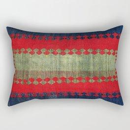 Azeri Shadda  Azerbaijan South Caucasus Plainweave Print Rectangular Pillow