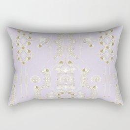 Birds and flowers-Original hand painted design Rectangular Pillow