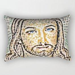 Jesus Artistic Illustration Colored Slits Style Rectangular Pillow