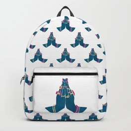 Namasté Hands - Blue Backpack