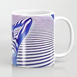 9665s-KMA_5201 Powerful Blue Woman Open Free Striped Sensual Sexy Abstract Nude Coffee Mug