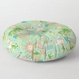 Motel Kitsch Pastel Floor Pillow