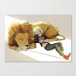 Yuri and Lion Canvas Print