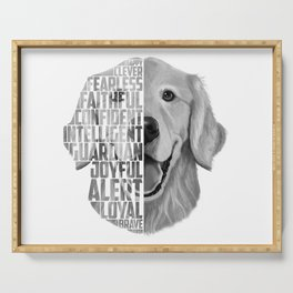 Golden Retriever PNG, Dog Print, Print for T shirt, Golden Retriever Gift, Subway Art, Golden Retrie Serving Tray
