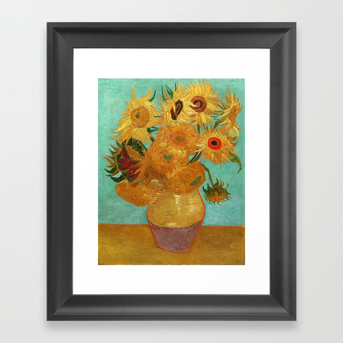 Vincent Van Gogh Twelve Sunflowers In A Vase Gerahmter Kunstdruck