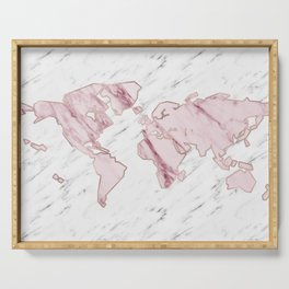 Wanderlust marble - pink stone Serving Tray