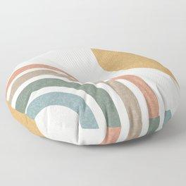Mid Century Colorful Sun & Rainbow Floor Pillow