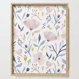 Delicate Pastel Floral Serving Tray