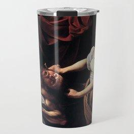 JUDITH BEHEADING HOLOFERNES - CARAVAGGIO  Travel Mug