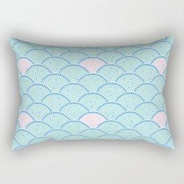 Mosaic Archs - Mint & Rose Rectangular Pillow