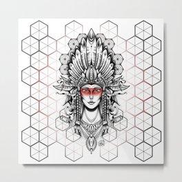Geometric Indian Metal Print