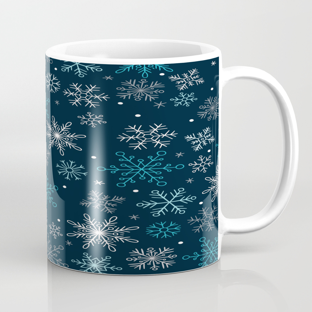 Christmas - Snowflakes - Winter Mug by Evaaristodemou MUG7871659