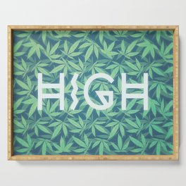 HIGH TYPO! Cannabis / Hemp / 420 / Marijuana  - Pattern Serving Tray