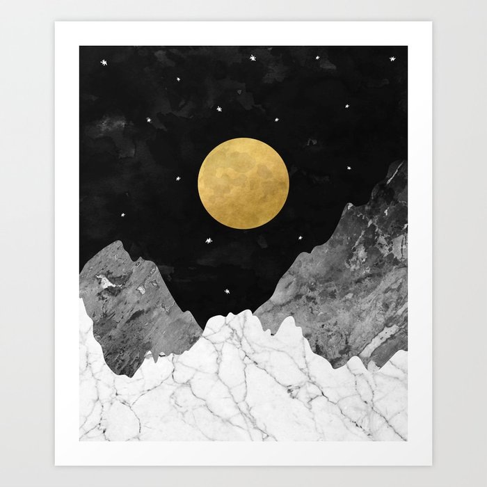 Moon and Stars Kunstdrucke