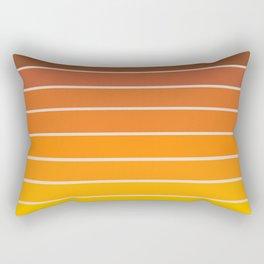 Gradient Arch - Vintage Orange Rectangular Pillow