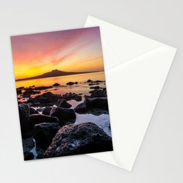 Rangitoto Island New Zealeand Stationery Cards