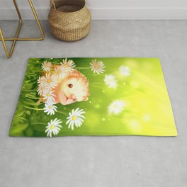 Among flowers and hedgehogs Rug