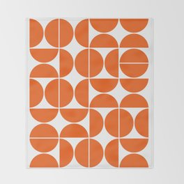 Mid Century Modern Geometric 04 Orange Decke