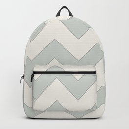 Soft green chevron pattern Backpack
