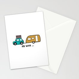 My way - travel with me Stationery Cards