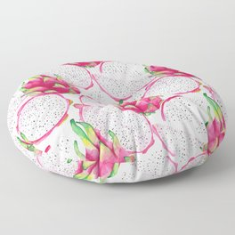 Dragon fruit fresh and sliced Floor Pillow