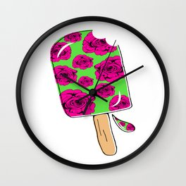 Rose Popsicle Wall Clock